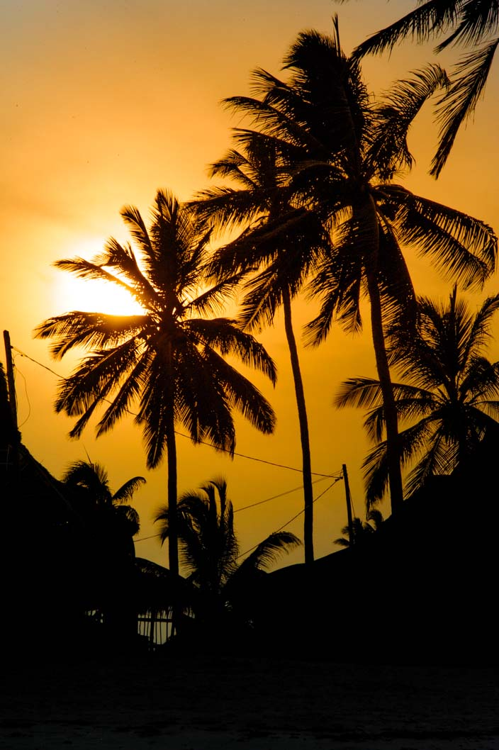 Sonnenuntergang Jambiania, Sansibar, Tansania, Afrika