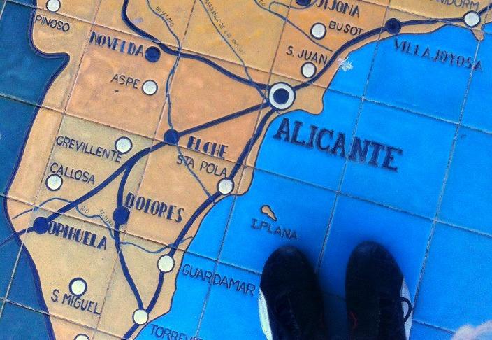 Reiseplanung-Landkarte-Spanien