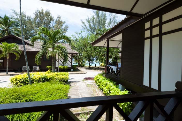 Perhentian Island Resort Zimmer - unsere Terrasse