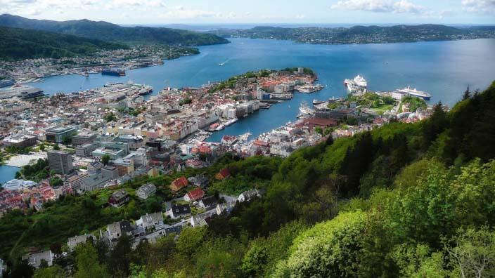 Wohin verreisen im Juni - Norwegen, Bergen - Floyen