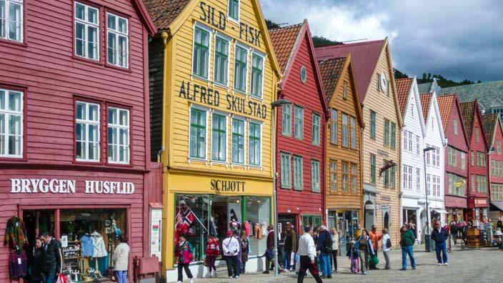 Wohin verreisen im Juni - Norwegen, Bergen - Altstadt