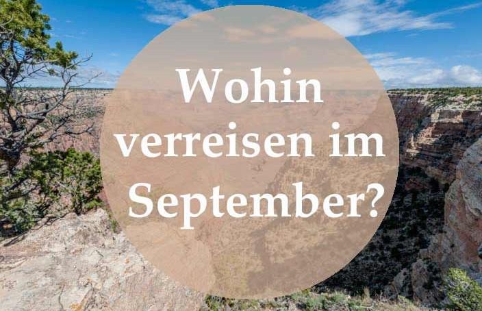 wohin verreisen im September