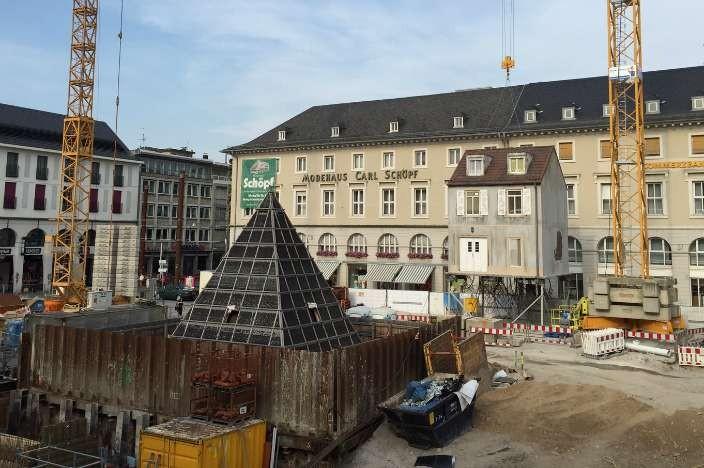 Baustelle Marktplatz Karlsruhe