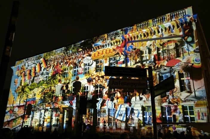 Festival of Lights Berlin 2015 Palais am Festungsgraben Deutschland