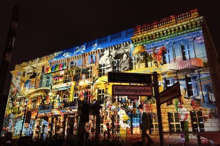 Festival of Lights Berlin 2015 Palais am Festungsgraben Israel