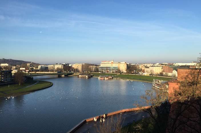 Sehenswürdigkeiten Krakau Fluss Weichsel