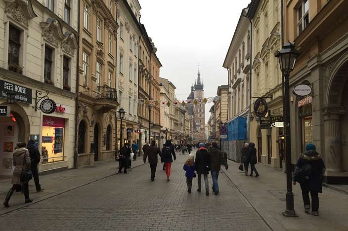 Sehenswürdigkeiten Krakau Shoppingstraße