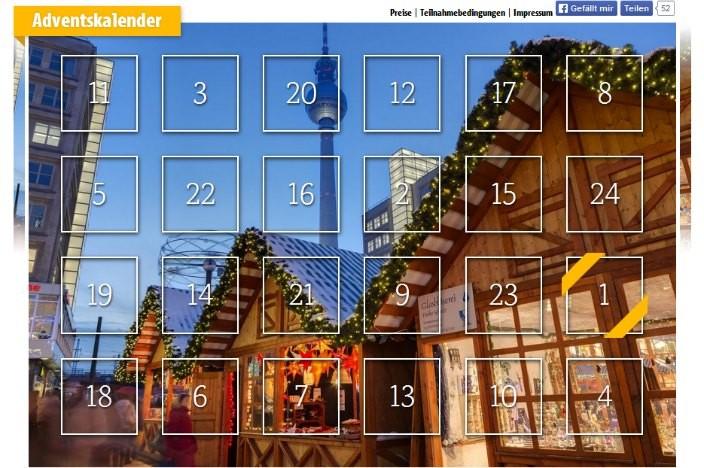 Online Adventskalender 2015 Visit Berlin