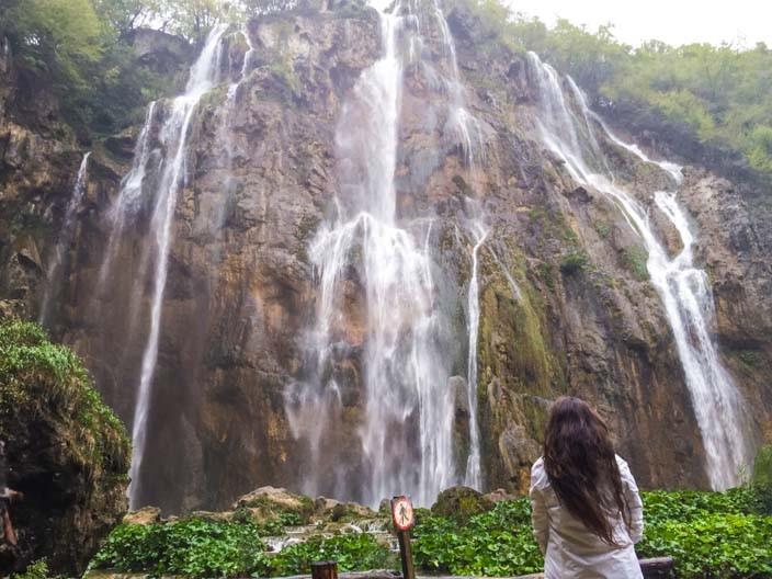 Plitvicer Seen großer Wasserfall
