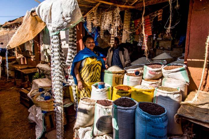 Tansania Rundreise Markt Karatu