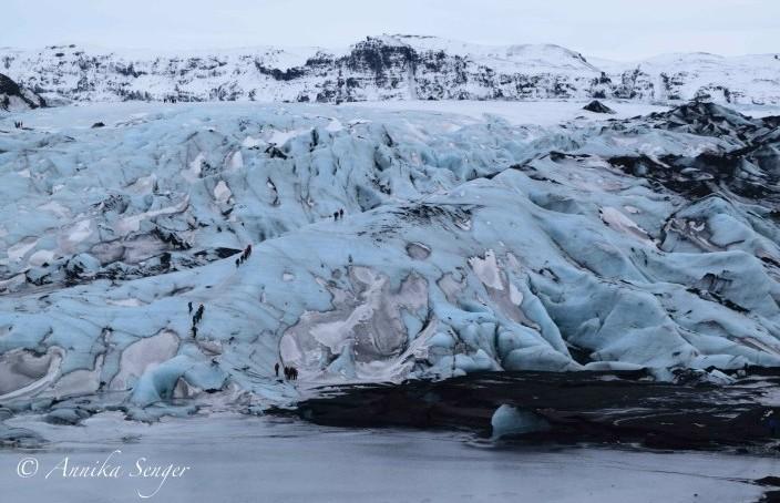 island im Winter Gletscher Myrdalsjökull