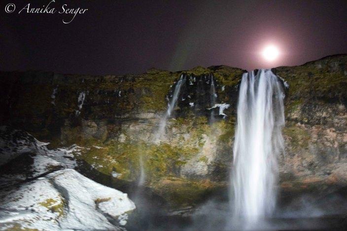 island im Winter Wasserfall Selfoss