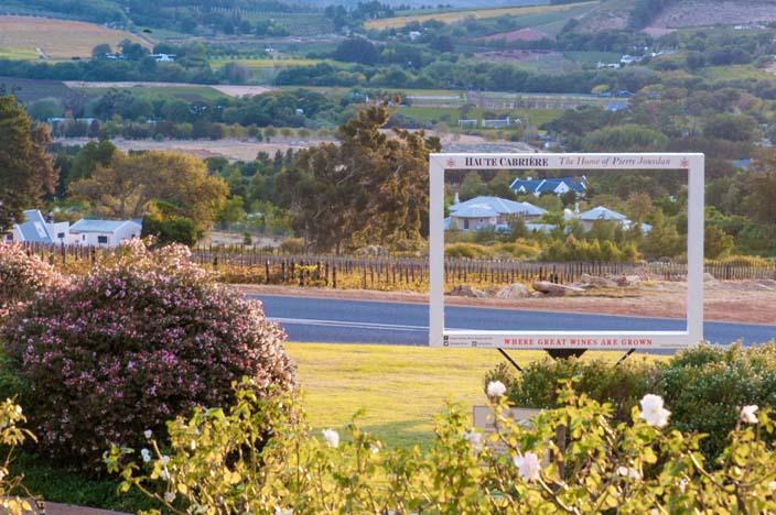 Südafrika Rundreise Franschhoek Aussicht Haute Cabriere