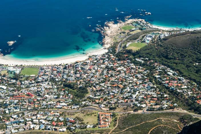 Südafrika Rundreise Aussicht Kapstadt vom Tafelberg