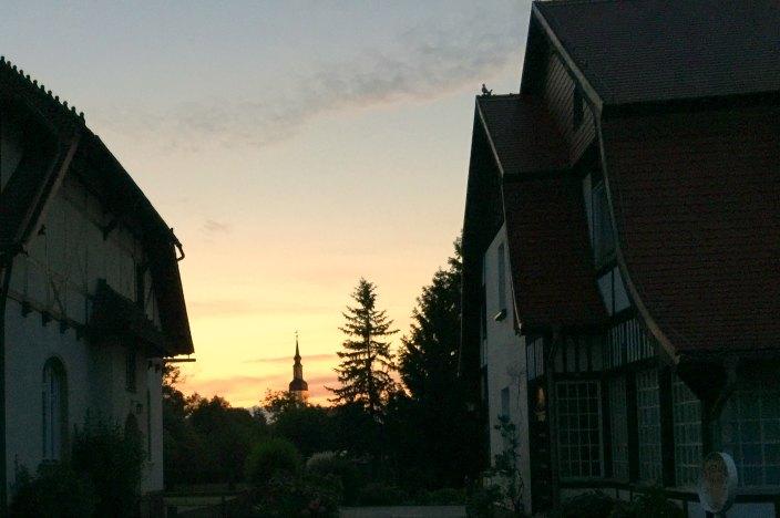 Urlaub im Spreewald Sonnenuntergang Lübbenau