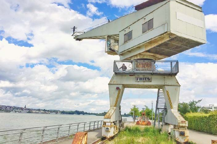 Bingen am Rhein Sehenswürdigkeiten Industriekran