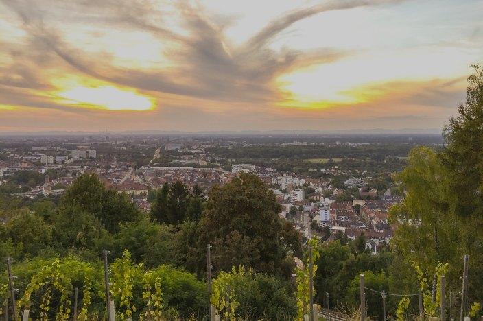 Perfektes Wochenende in Karlsruhe Turmberg Durlach sonnenuntergang