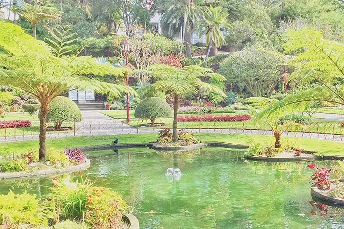 Angra do Heroismo Der Stadtpark: der Jardim Duque da Terceira