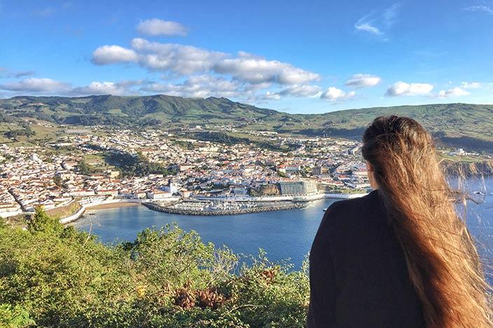 Angra do Heroismo Aussicht vom Monte Brasil