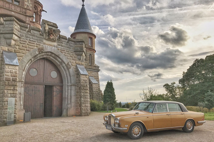 Schloss Drachenburg alter Mercedes