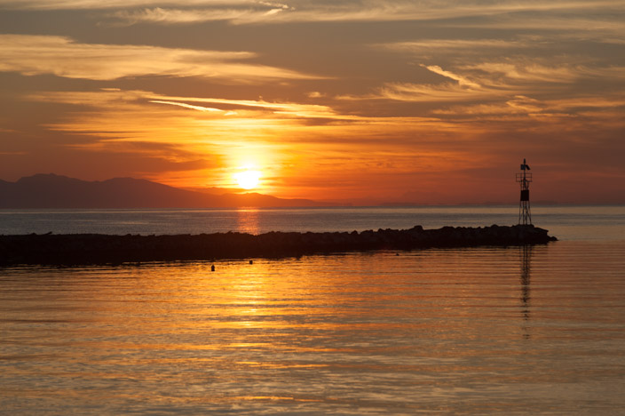 Sonnenaufgang Griechenland Gaios