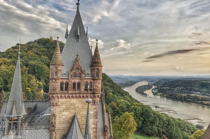 Schloss Drachenburg von oben