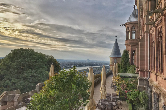 Schloss Drachenburg Terasse