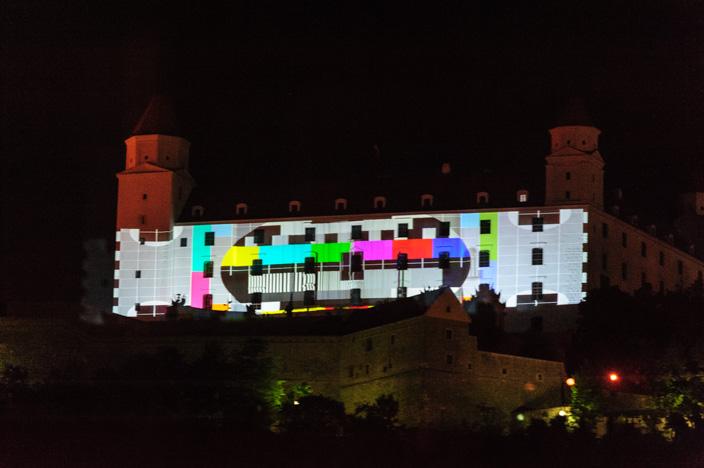 Testbild auf der Burg in Bratislava