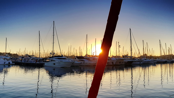Sonnenaufgang Griechenland Gouvia