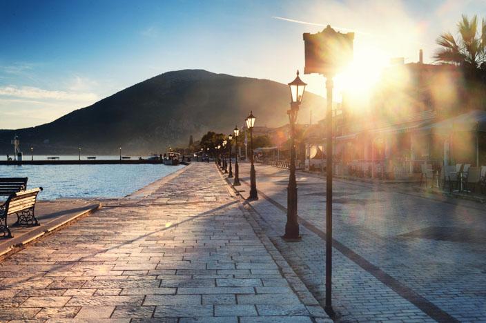 Sonnenaufgang Griechenland Vonitsa