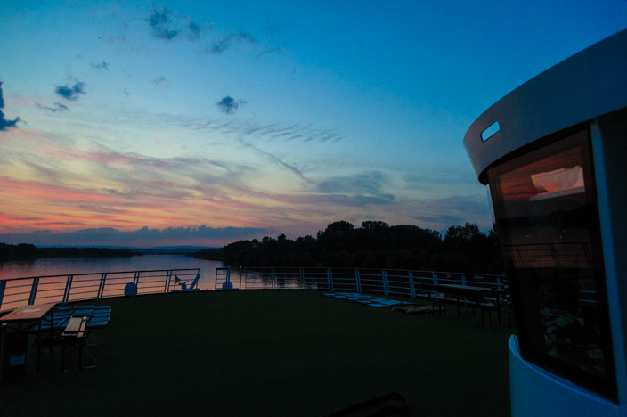 A-ROSA Riva Flusskreuzfahrt Donau Sonnenuntergang