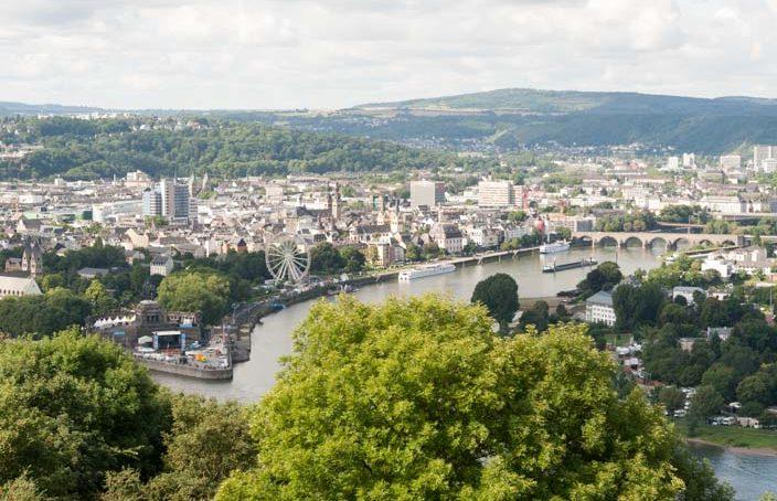 Rhein in Flammen Koblenz Aussicht von oben