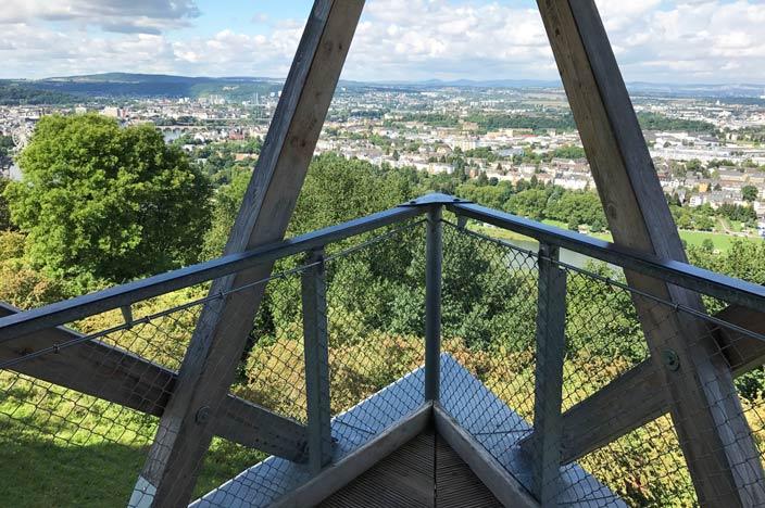 Rhein in Flammen Koblenz Aussichtspunkt Festungspark