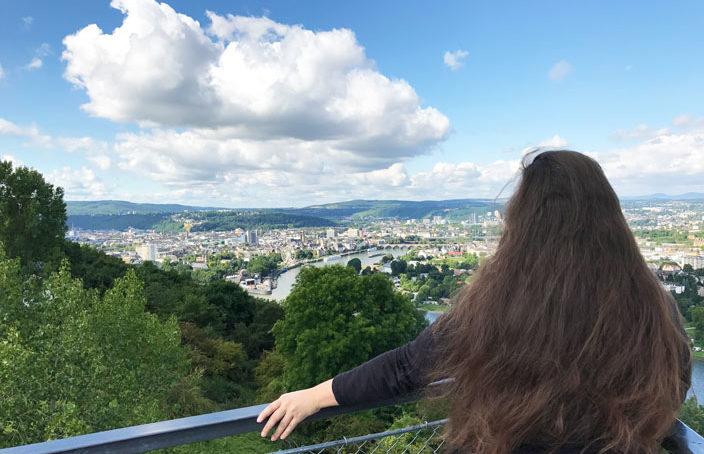 Reiseaufnahmen in Koblenz
