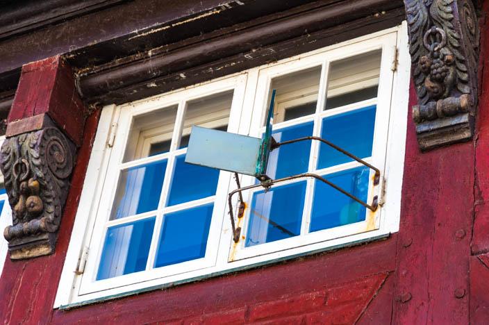 Ribe Sehenswürdigkeiten: Doppelspiegel in Ribes Altstadt