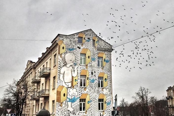 Vilnius Sehenswürdigkeiten: Streetart in Vilnius