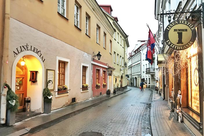 Vilnius Sehenswürdigkeiten: Gasse in Vilnius