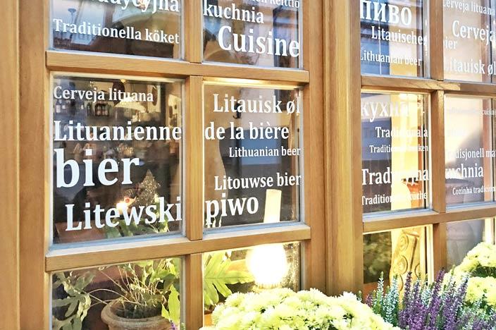 Vilnius Sehenswürdigkeiten: Schaufenster und Gassen
