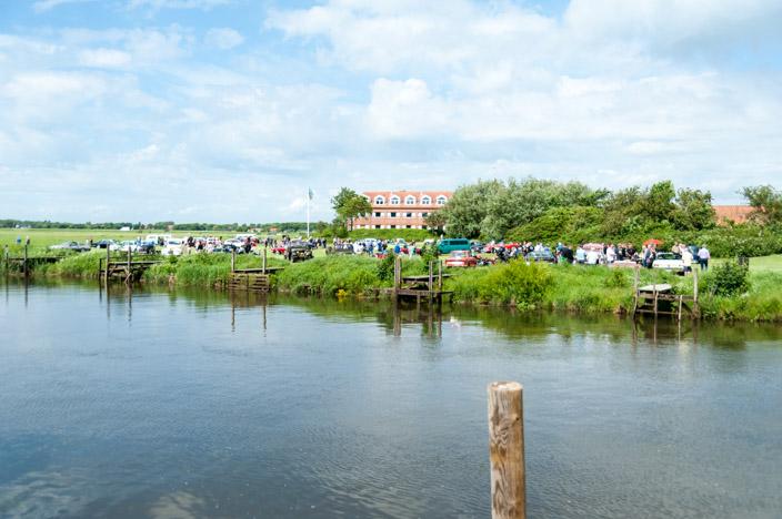 Ribe Sehenswürdigkeiten: Fluss Ribe Au mit Festwiese des Ribe Classic