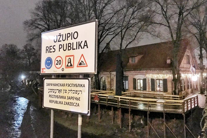 Vilnius Sehenswürdigkeiten: unabhängige Republik Uzupis