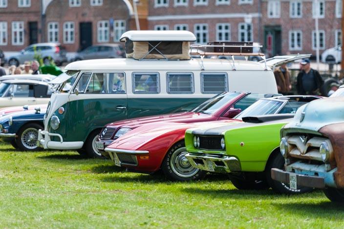 Ribe Sehenswürdigkeiten: Alte Autos beim Ribe Classic