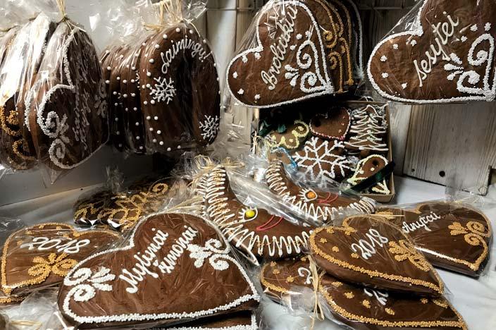 Vilnius Sehenswürdigkeiten: Kathedralenplatz Lebkuchen Weihnachtsmarkt