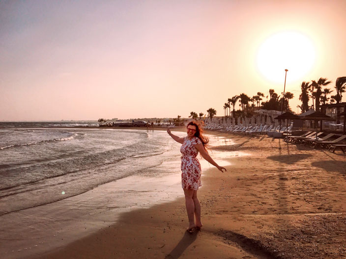 Nicosia Tipps: Strand in Larnaka Golden Bay Hotel