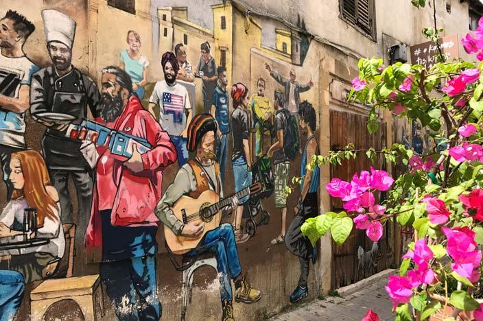 """Nicosia Tipps: Das Grafitti """"Die Menschen Zyperns"""""""