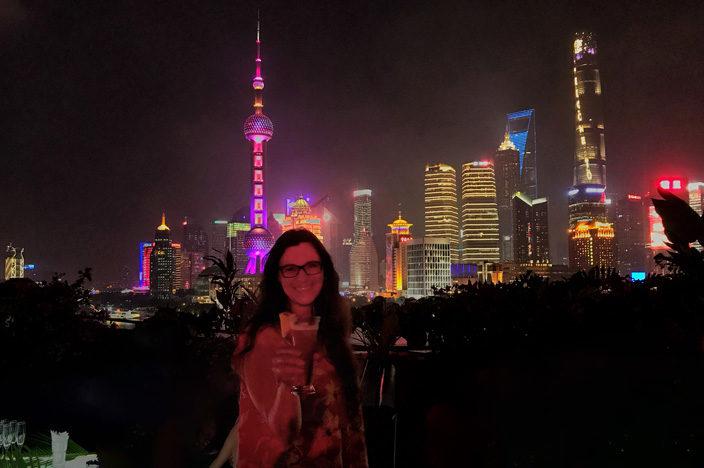 Shanghai Sehenswürdigkeiten Tipps Bar Rouge Bund Skyline