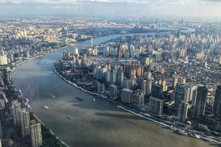Shanghai Tower: Aussicht über die Stadt