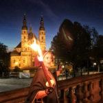 Fulda Sehenswürdigkeiten: Dom bei Nacht und Fackelwanderung mit Maria Eleonore Dientzenhofer