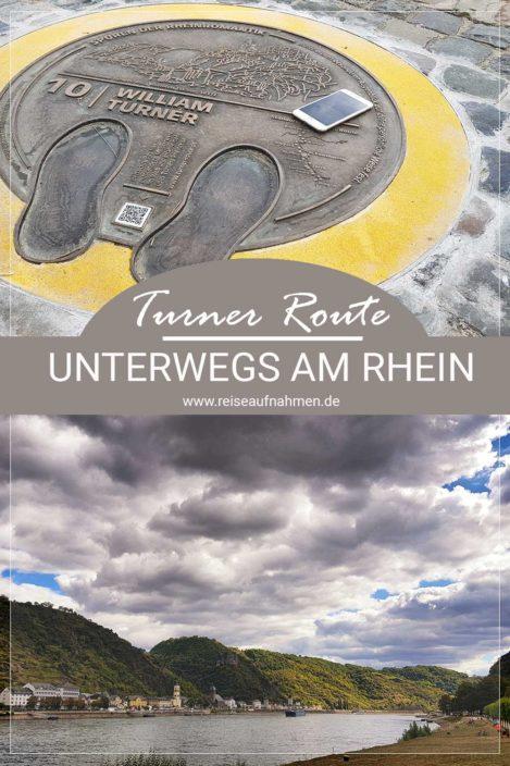 Pinterest Pin William Turner-Route Oberes Mittelrheintal