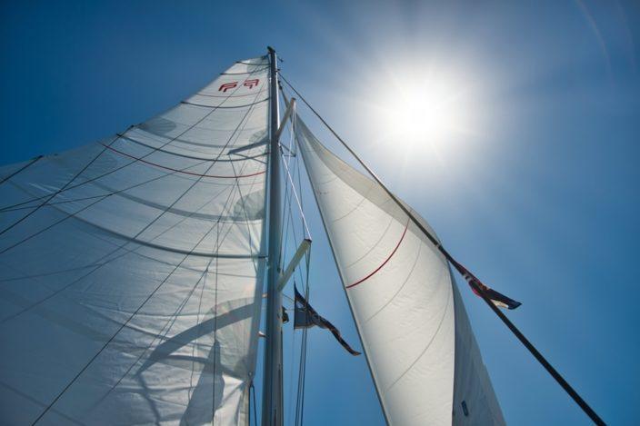 Segel raus: Wind will auf einer Segelreise genutzt werden.