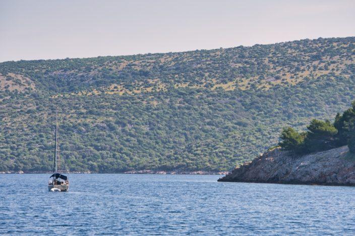 Unterwegs zu den unzähligen Inseln der Kvarner Bucht in Kroatien.